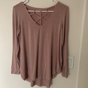 American Eagle strappy long sleeve top